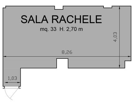 Rachel Hall Floor Plan-Hotel Royal Santina Rome