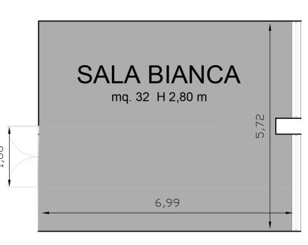 White Hall Floor Plan-Hotel Royal Santina
