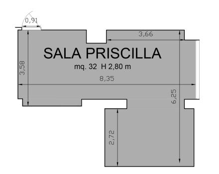 Floorplan Hall Priscilla-Hotel Royal Santina