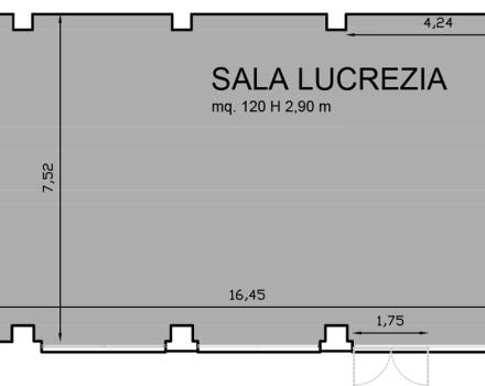 Floorplan Hall Lucrezia-Hotel Royal Santina Rome
